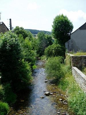 La rivière de Combe Sourde  au Bleymard en Lozère